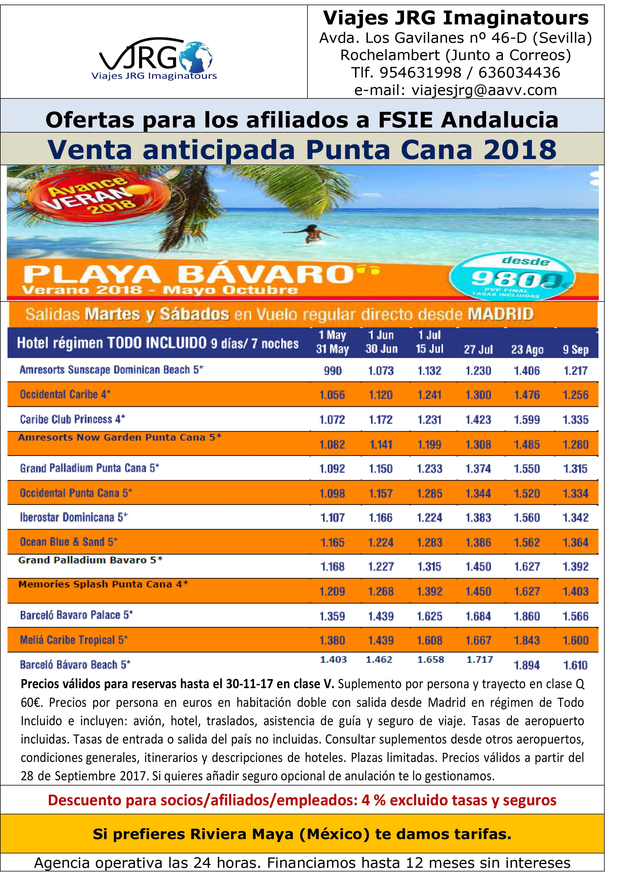 20170929 Venta anticipada Punta Cana 20182229